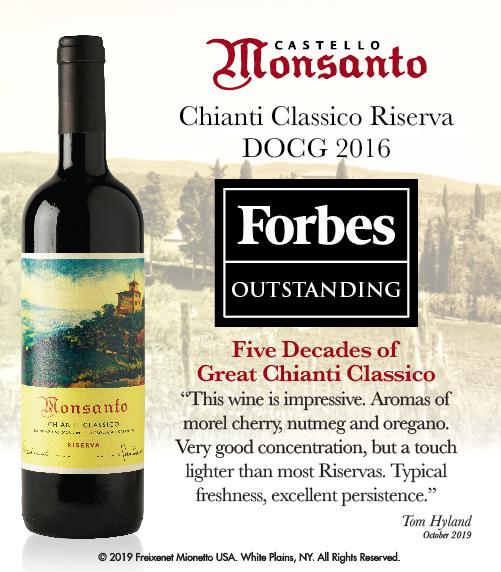 Castello di Monsanto - Chianti Classico Riserva 2016 - Forbes - Outstanding - ShelfTalker