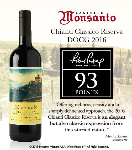 Castello di Monsanto - Chianti Classico Riserva 2016 - WineAdvocate - 93PTS - ShelfTalker