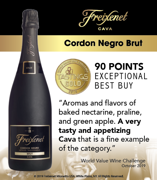 Freixenet Cordon Negro Brut - World Value Wine Challenge - 90PTS - Shelftalker