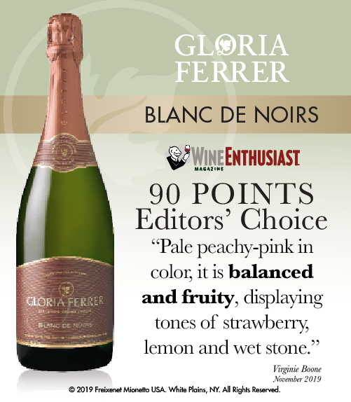 Gloria Ferrer Blanc de Noirs - Wine Enthusiast - 90 PTS - ShelfTalker