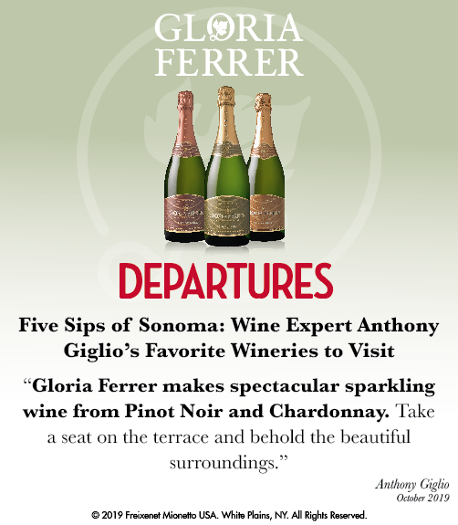Gloria Ferrer - Departures - 5 Sips Sonoma - ShelfTalker