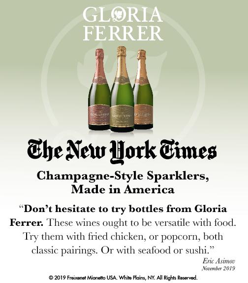 Gloria Ferrer - NY Times - Champagne-Style Sparklers - ShelfTalker