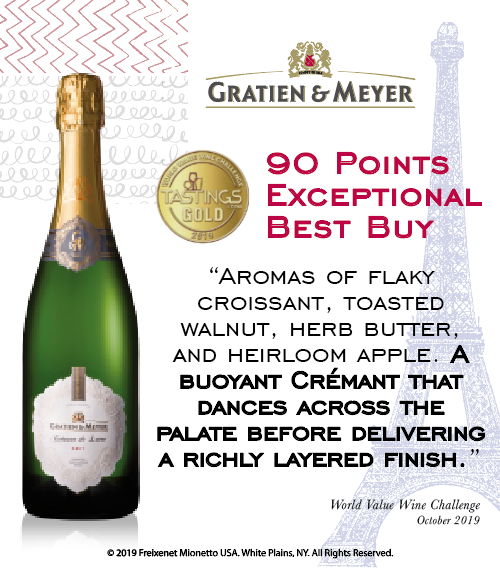 Gratien & Meyer Brut - World Value Wine Challenge - 90PTS - Shelftalker