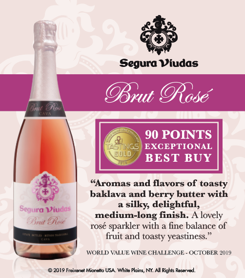 Segura Viudas Brut Rosé - World Value Wine Challenge - 90PTS - Shelftalker