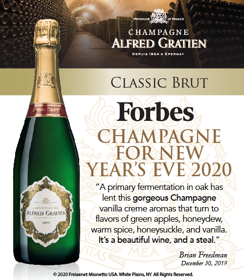 Alfred Gratien - Classic Brut - Forbes - Champagne for NYE - Shelftalker