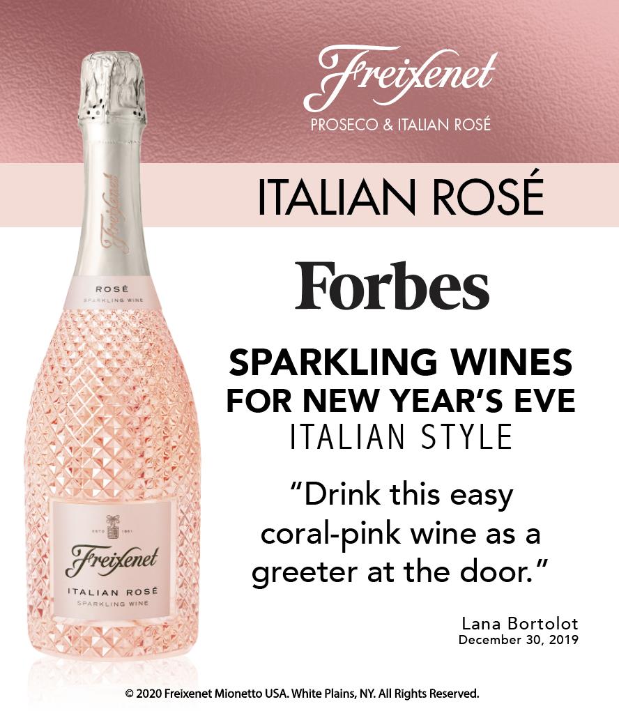 Freixenet Italian Rosé - Forbes - Sparkling Wines NYE - ShelfTaker