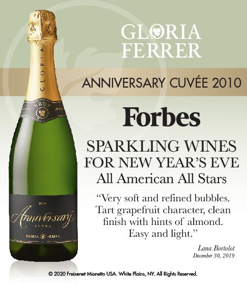 Gloria Ferrer Anniversary 2010 - Forbes - Sparkling Wines NYE - ShelfTalker