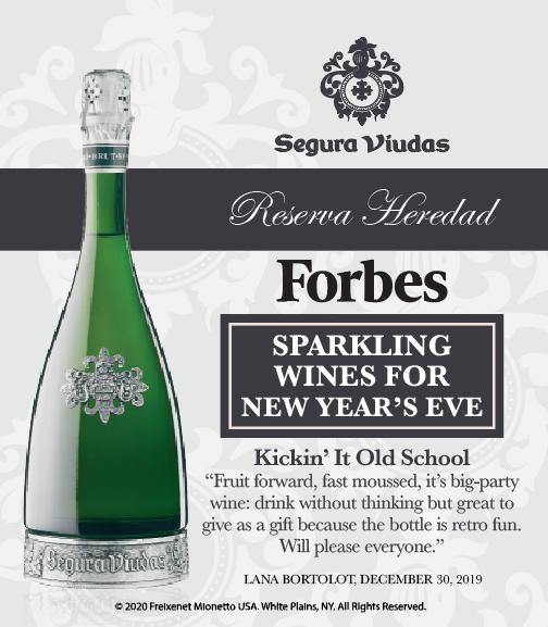 Segura Viudas Reserva Heredad - Forbes - Sparkling Wines NYE - Shelftalker