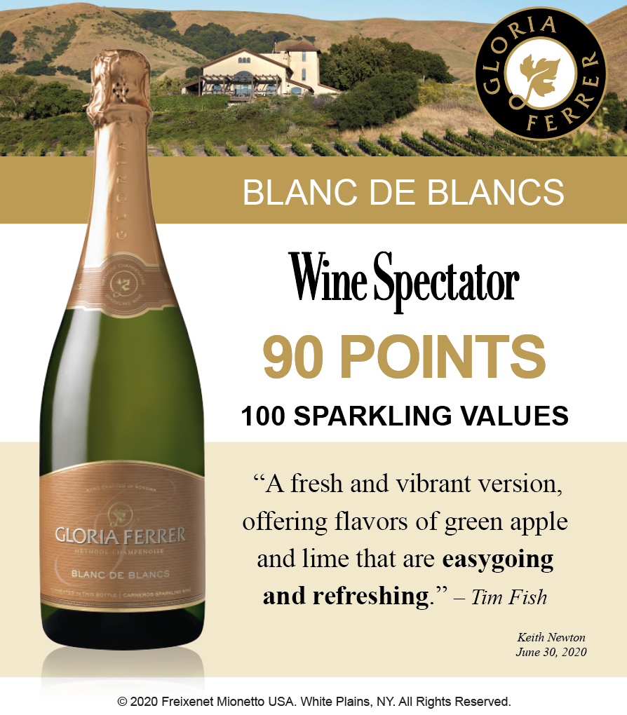 Gloria Ferrer Blanc de Blanc - 90 Pts WineSpectator - ShelfTalker