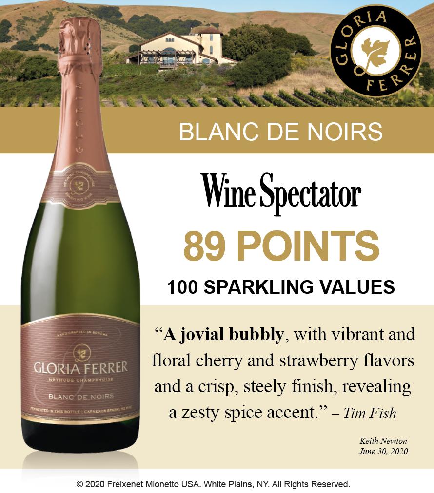 Gloria Ferrer Blanc de Noirs - 89 Pts WineSpectator - ShelfTalker