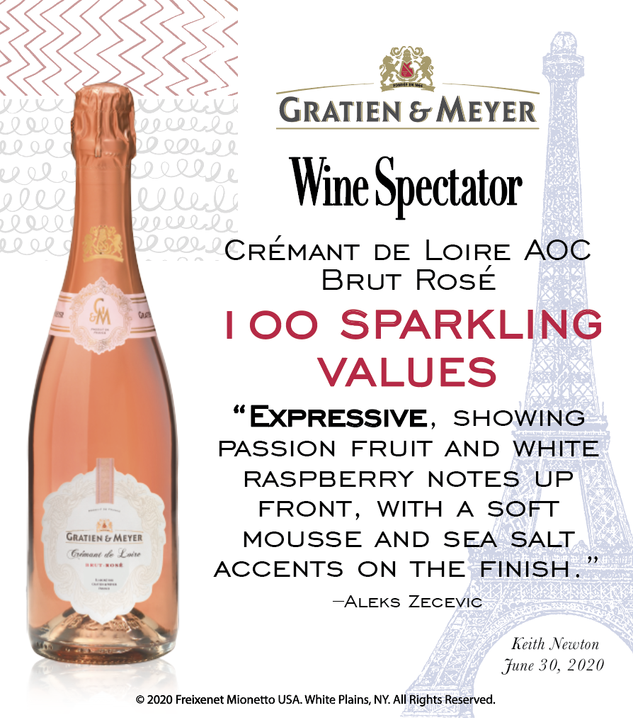 Gratien & Meyer Rose - 100 sparkling values - Wine Spectator - Shelftalker