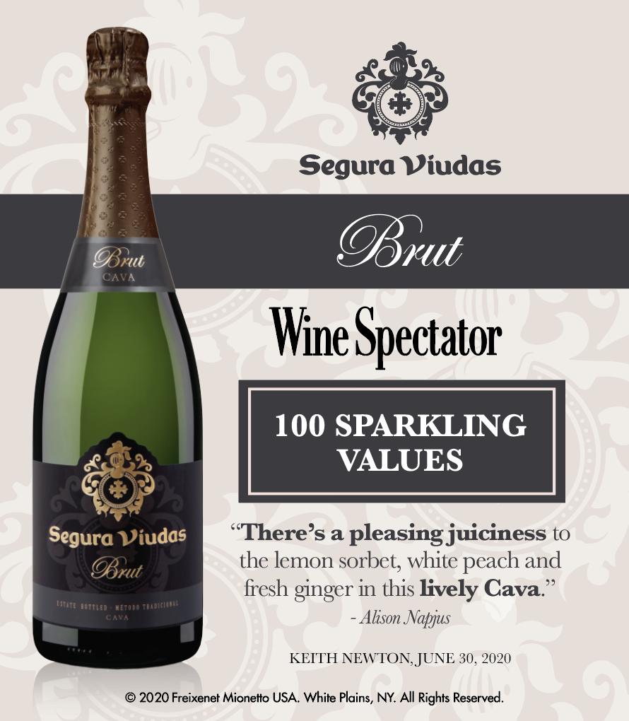 Segura Viudas Brut - Wine Spectator - 100 Sparkling Values - Shelftalker