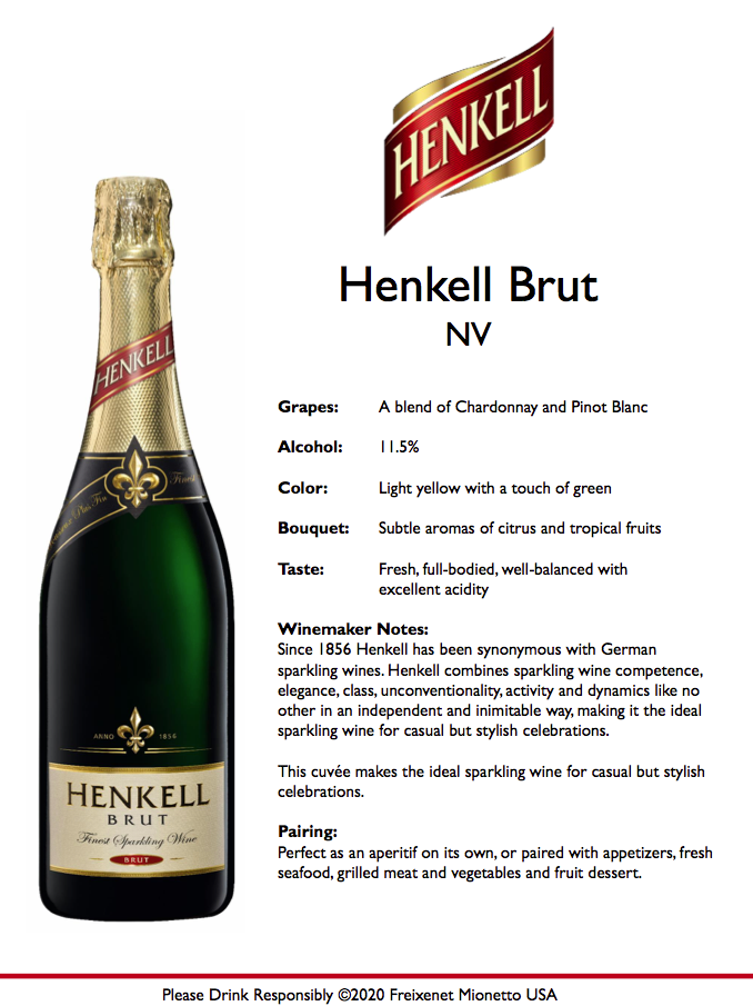 Henkell Brut 750 ml Tech Sheet