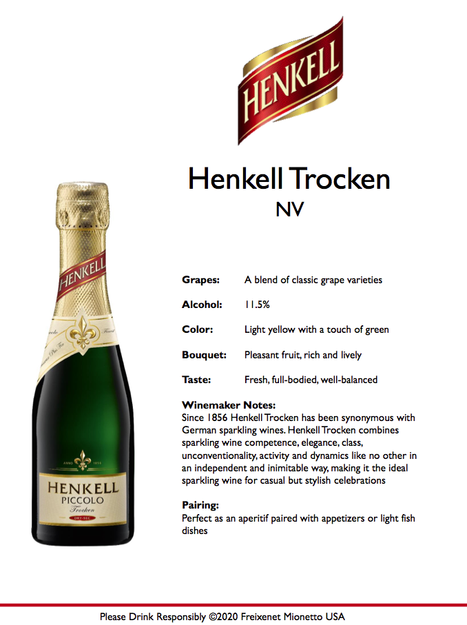 Henkell Trocken 187ml Tech Sheet