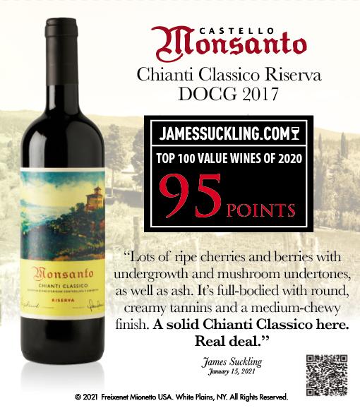 Castello Monsanto - CCR 2017 - James Suckling - Top 100 Values of 2020 - 95 points - Jan 2021