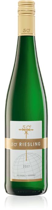 50 degrees riesling bottle