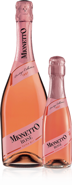 Mionetto Rosé Extra Dry bottle